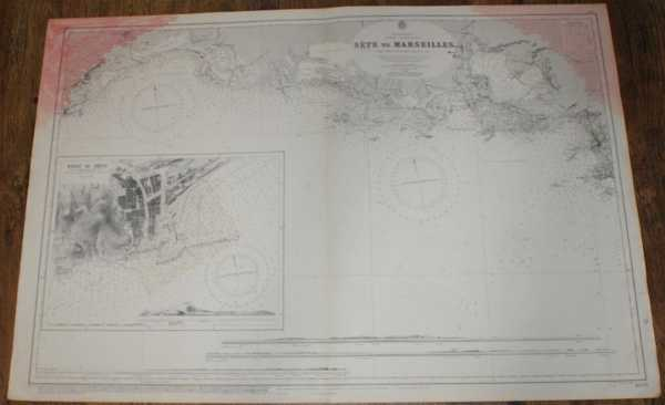 Nautical Chart No. 1805 Mediterranean, France - South Coast, Sete to Marseille, Admiralty