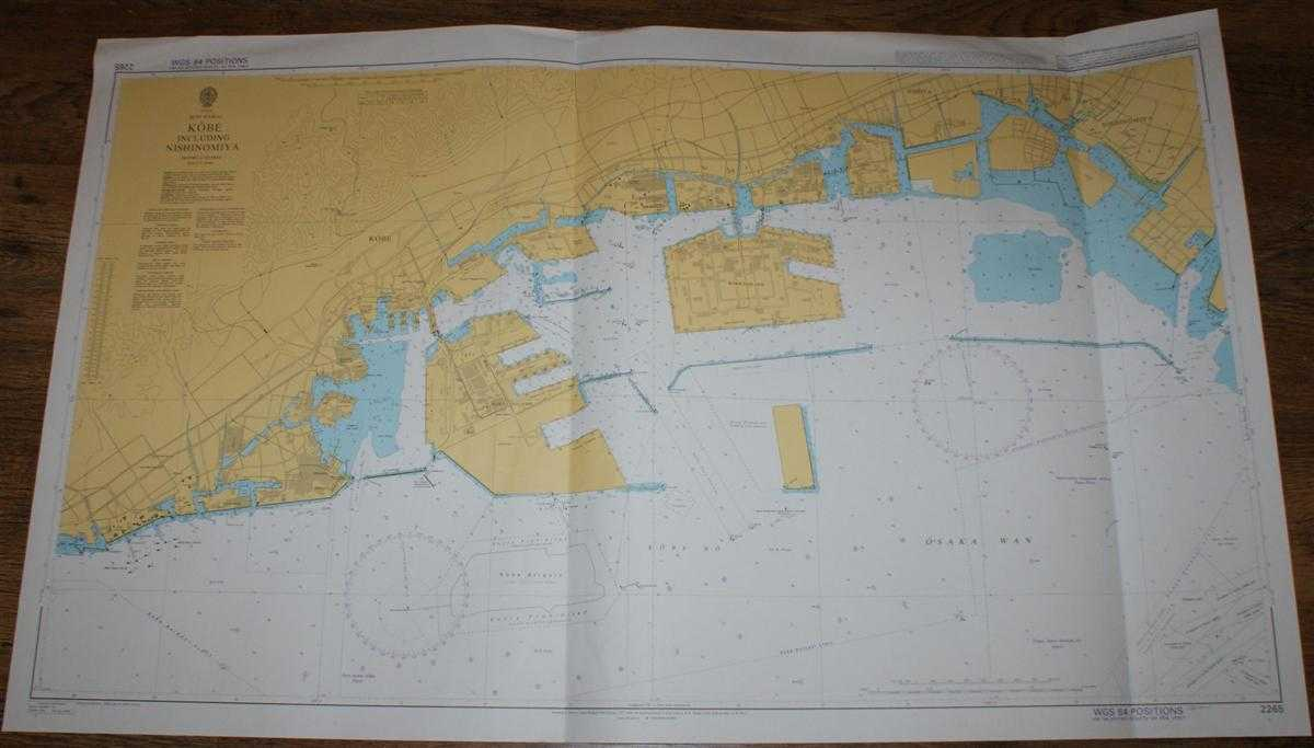 Nautical Chart No. 2265 Japan, Seto Naikai, Kobe including Nishinomiya, Admiralty