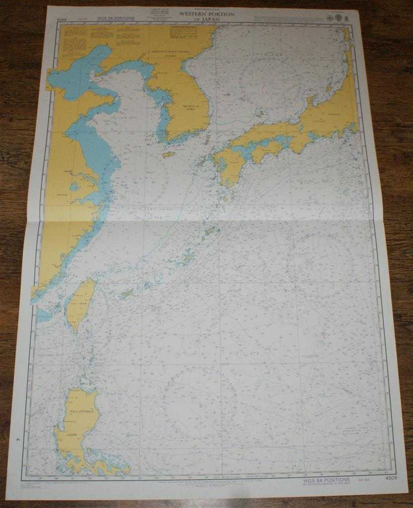 Nautical Chart No. 4509 North Pacific Ocean, Western Portion of Japan, Admiralty