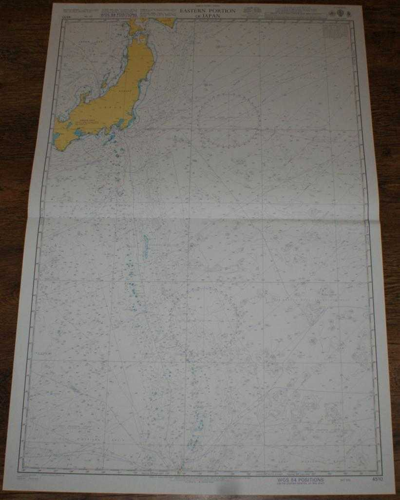 Nautical Chart No. 4510 North Pacific Ocean, Eastern Portion of Japan, Admiralty