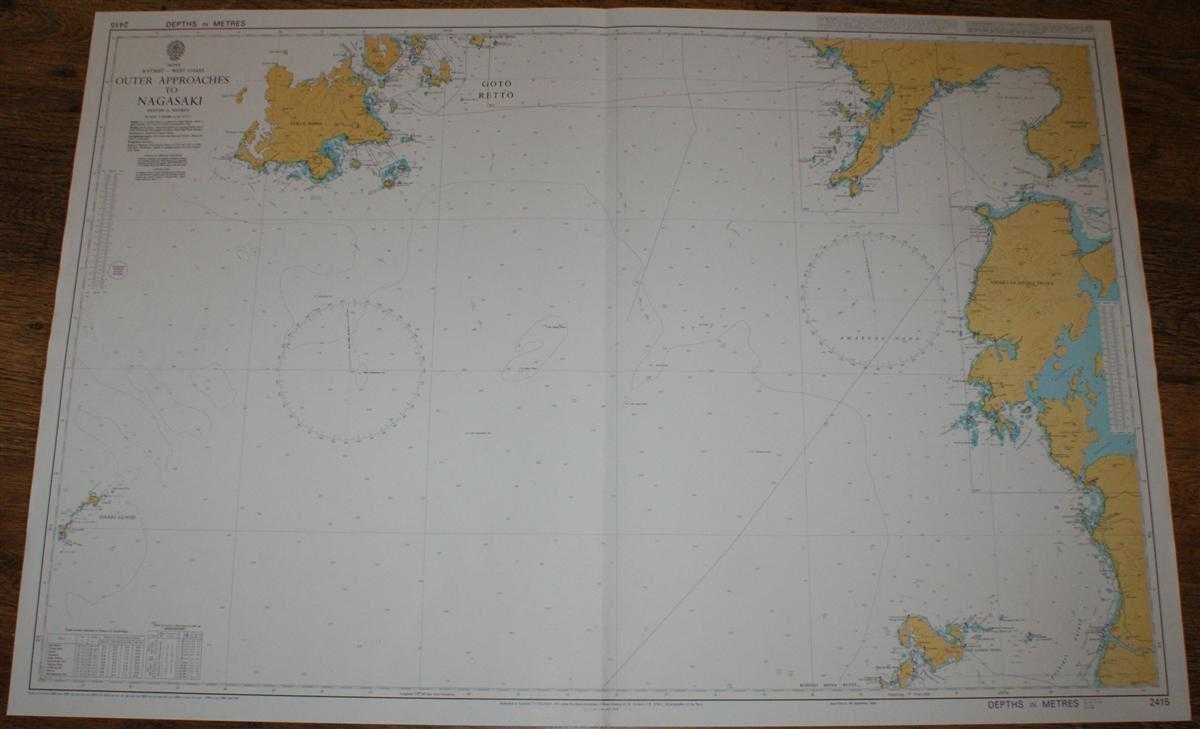 Nautical Chart No. 2415 Japan, Kyushu - West Coast, Outer Approaches to Nagasaki, Admiralty