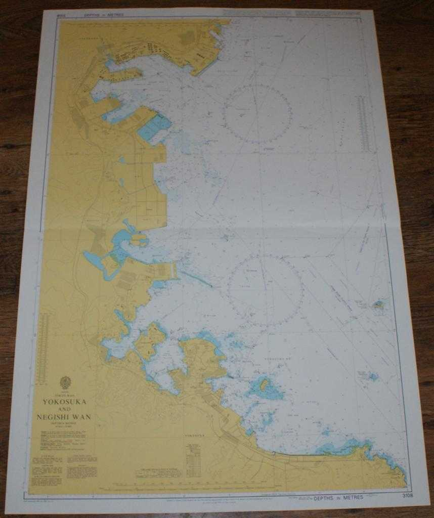 Nautical Chart No. 3108 Japan, Tokyo Wan, Yokosuka and Negishi Wan, Admiralty