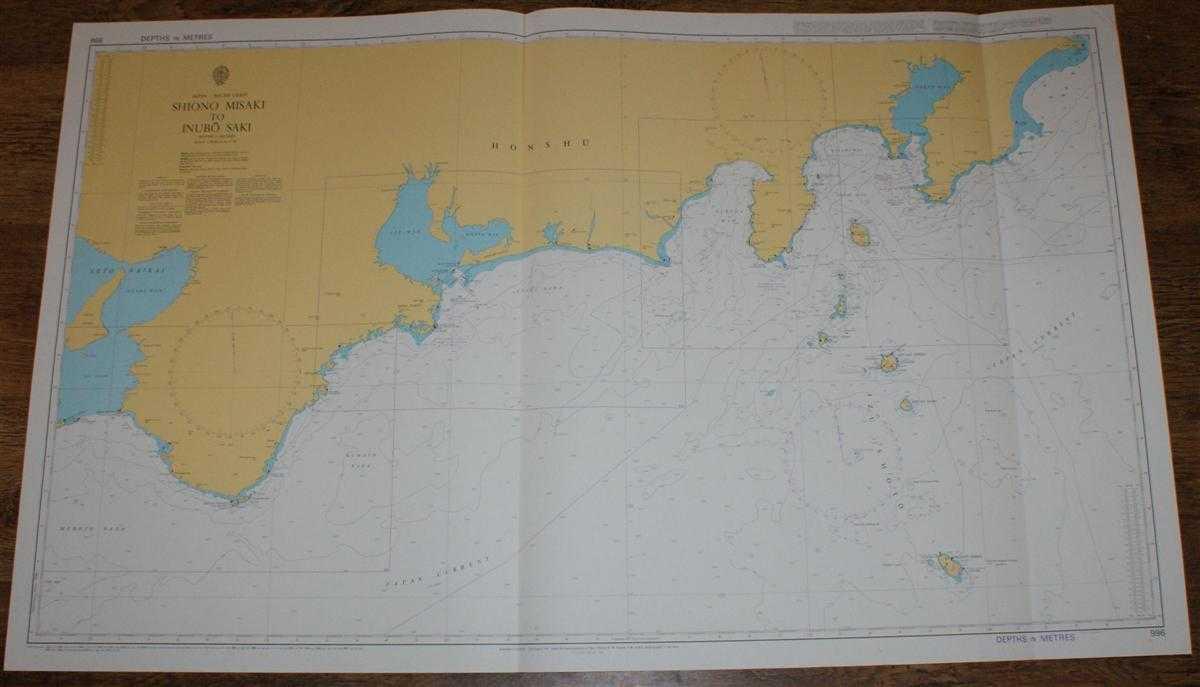 Nautical Chart No. 996 Japan - South Coast, Shiono Misaki to Inubo Saki, Admiralty