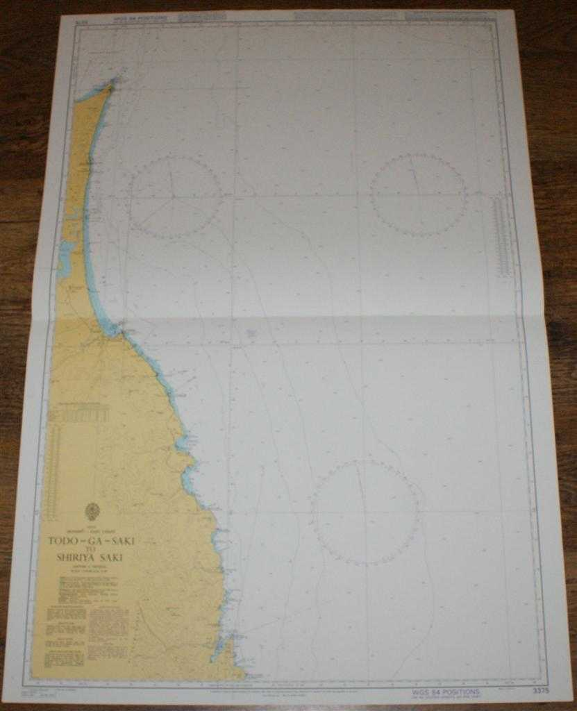 Nautical Chart No. 3375 Japan, Honshu - East Coast, Todo-Ga-Saki to Shiriya Saki, Admiralty