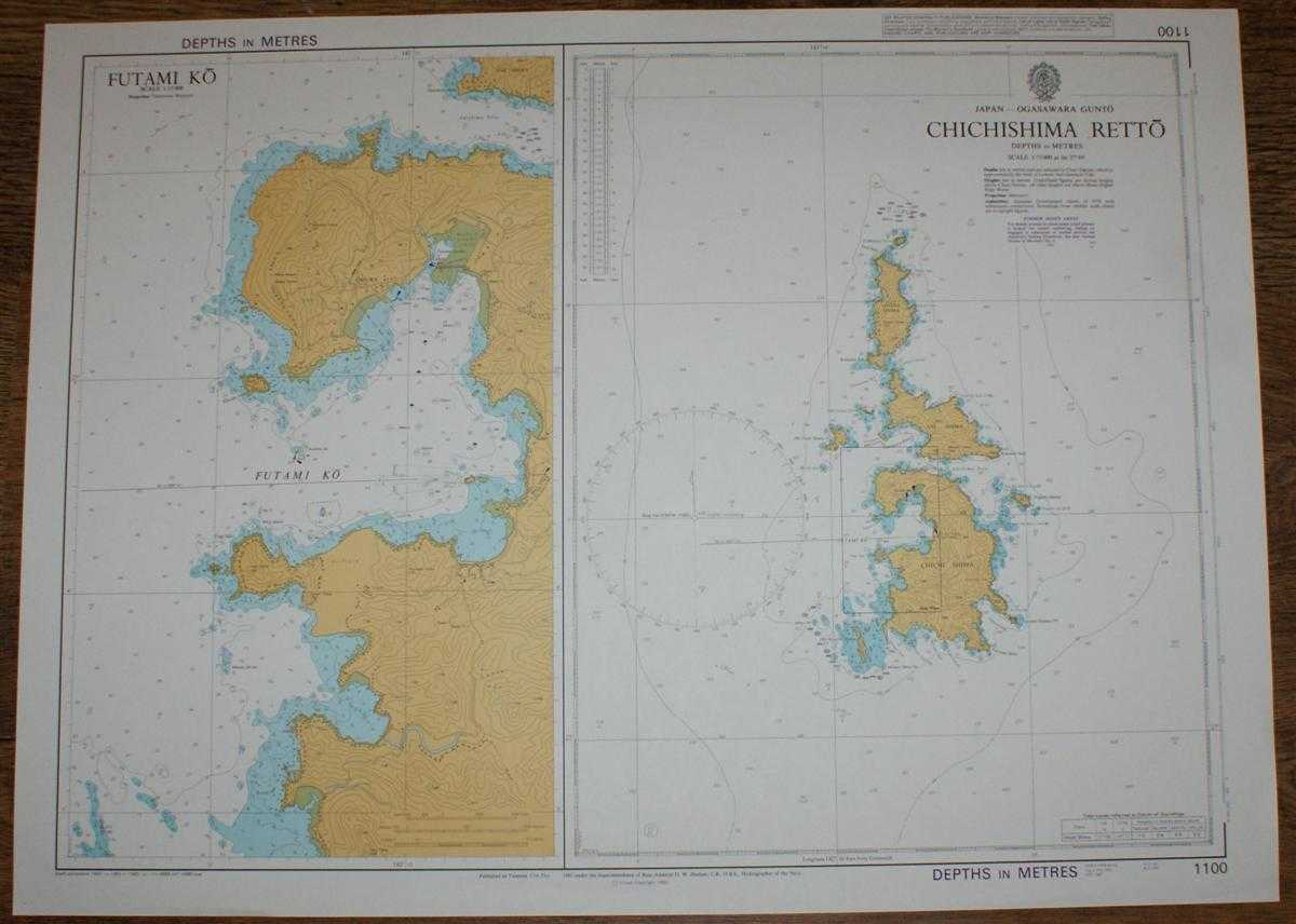 Nautical Chart No. 1100 Japan - Ogasawara Gunto, Chichishima Retto, Admiralty