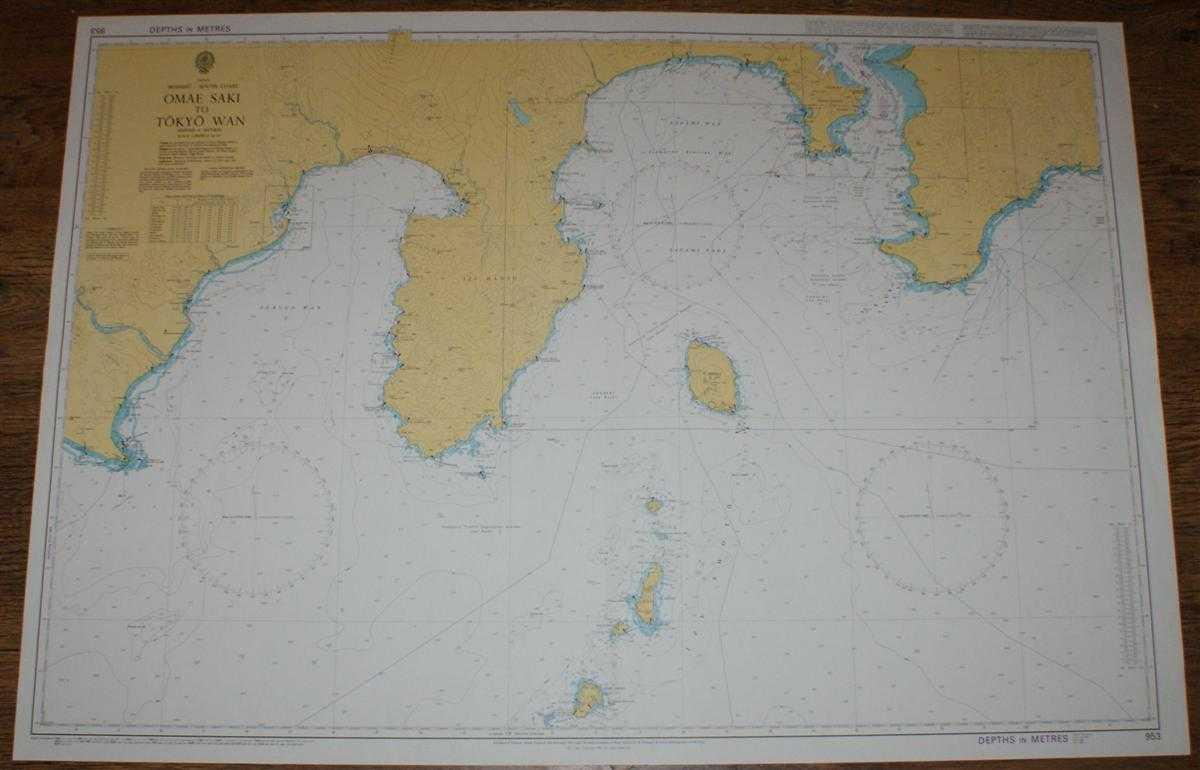 Nautical Chart No. 953 Japan, Honshu - South Coast, Omae Saki to Tokyo Wan, Admiralty