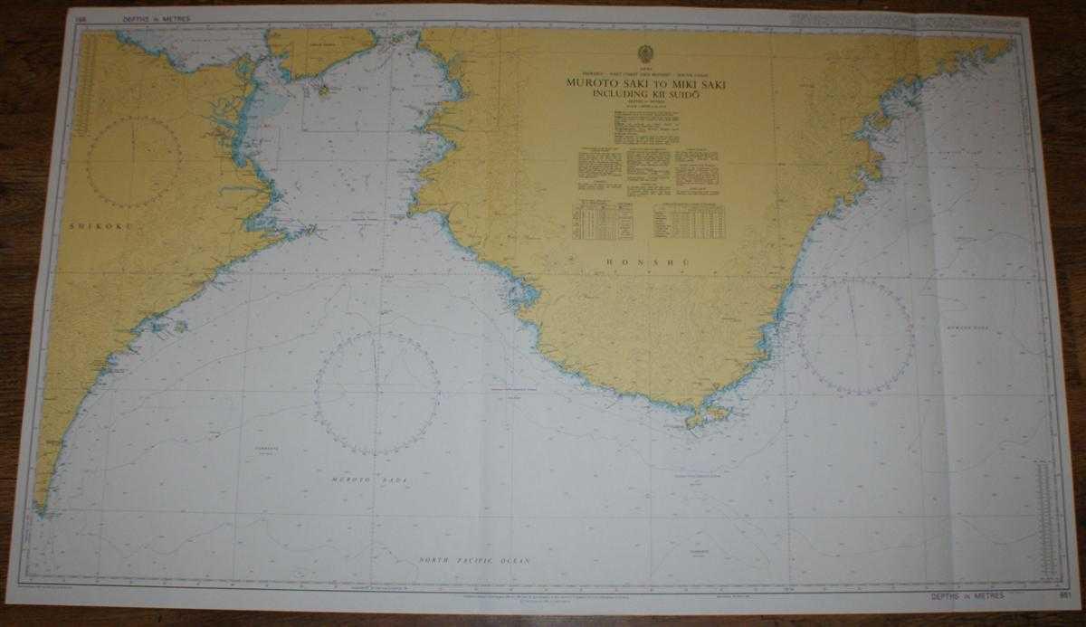 Nautical Chart No. 951 Japan, Shikoku - East Coast and Honshu - South Coast, Muroto Saki to Miki Saki including Kii Suido, Admiralty