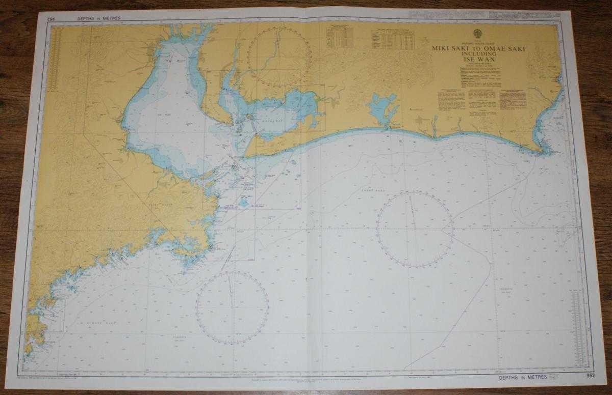 Nautical Chart No. 952 Japan, Honshu - South Coast, Miki Saki to Omae Saki Including Ise Wan, Admiralty