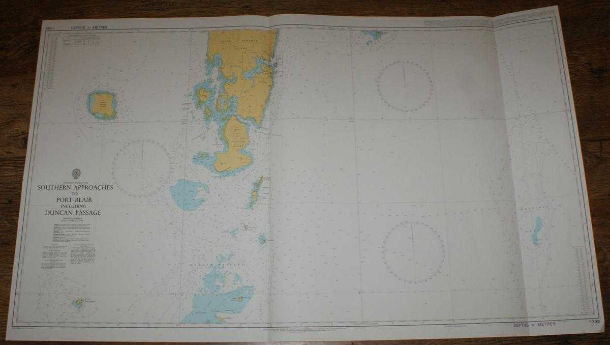 Nautical Chart No. 1398 Andaman Islands, Southern Approaches to Port Blair including Duncan Passage, Admiralty