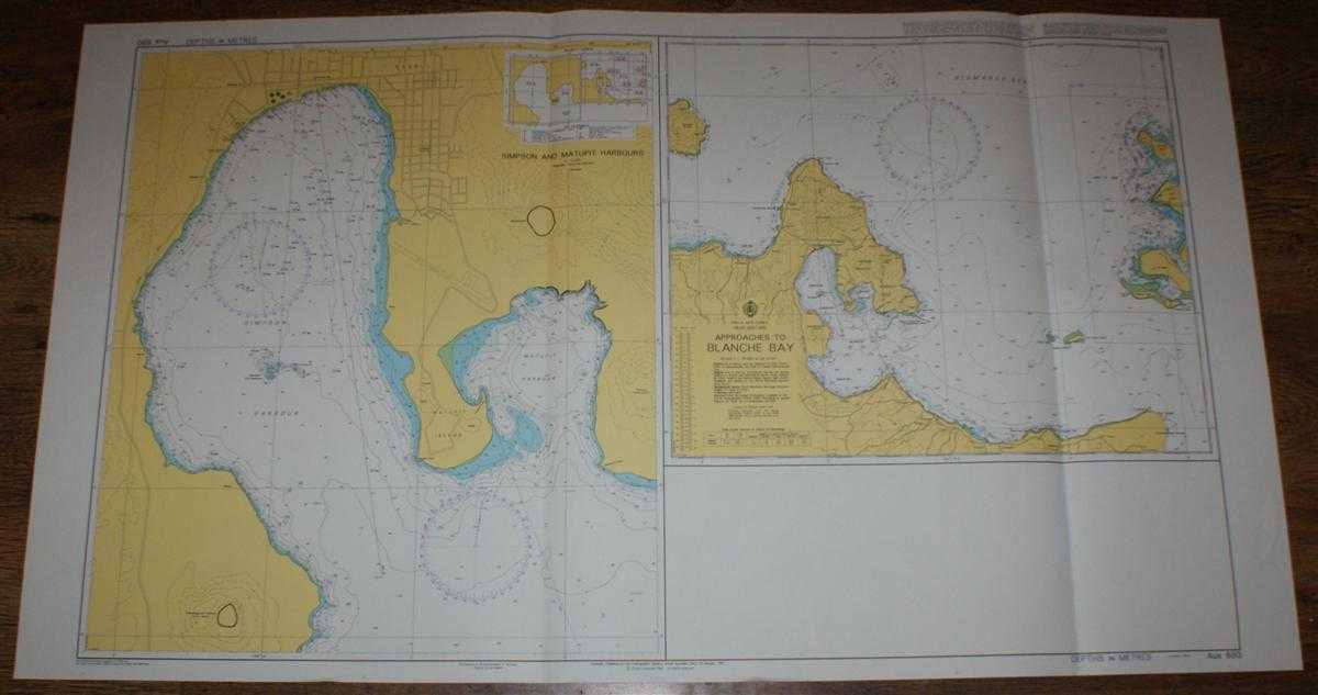 Image for Nautical Chart No. AUS 680 Papua New Guinea, New Britain, Approaches to Blanche Bay and Simpson and Matupit Harbours