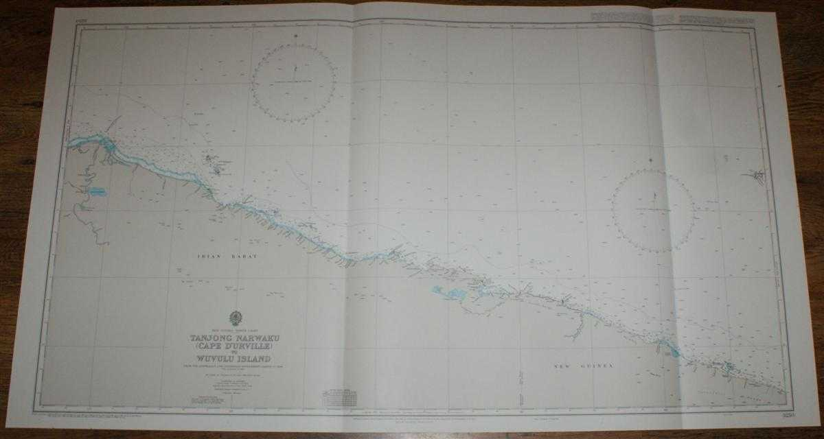 Image for Nautical Chart No. 3250 New Guinea - North Coast, Tanjong Narwaku (Cape D'Urville) to Wuvulu Island