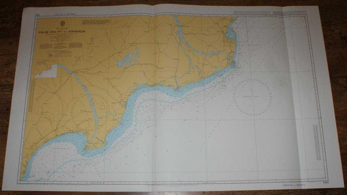 Nautical Chart No. 2062 India - East Coast, False Divi Pt. to Kakinada, Admiralty