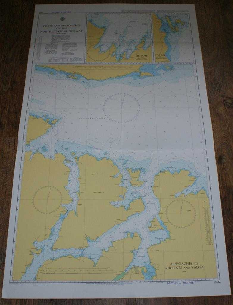 Nautical Chart No. 2332 Ports and Approaches on the North Coast of Norway - Mehamn, Vardo, Kirkenes and Vadso, Admiralty