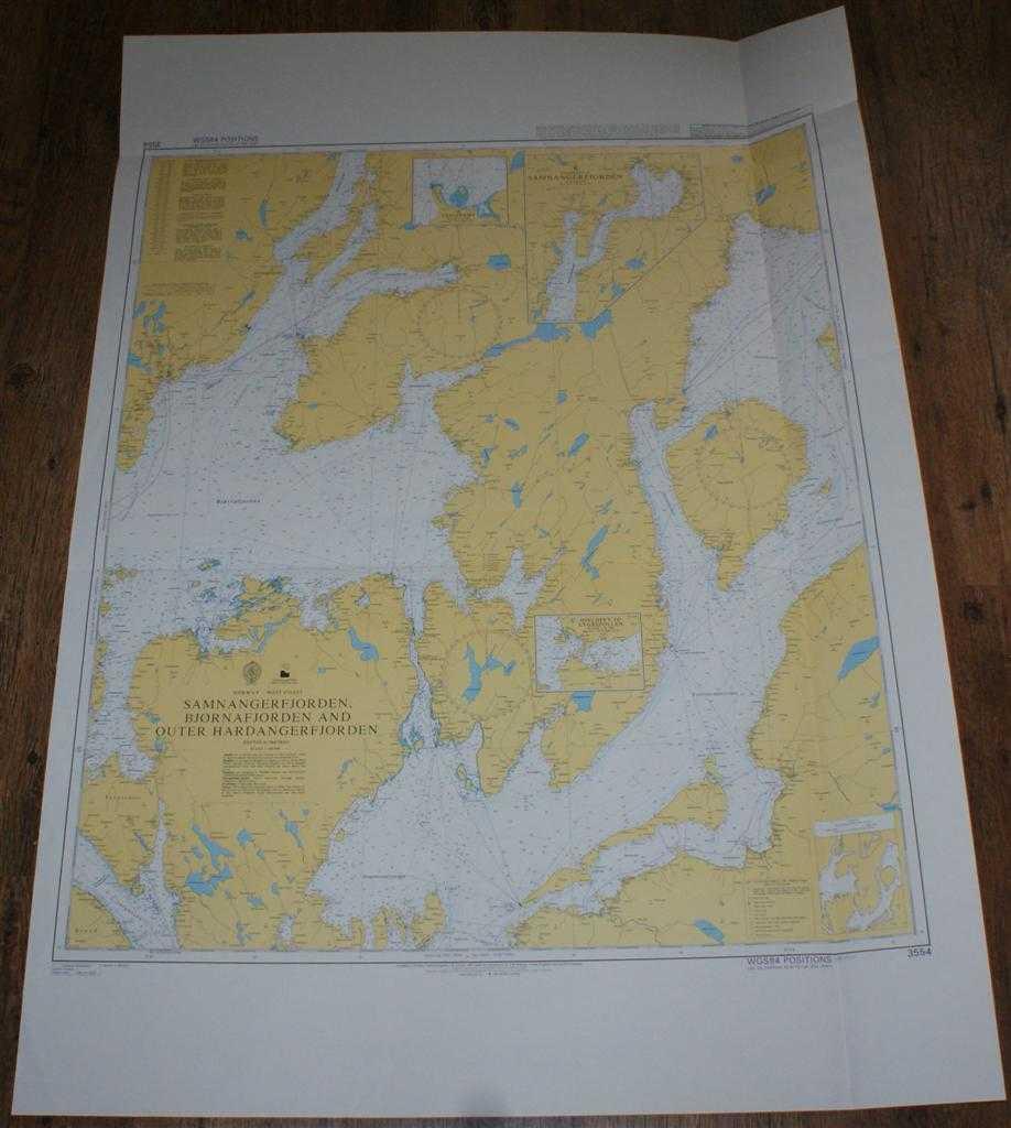 Nautical Chart No. 3554 Norway - West Coast, Samnangerfjorden, Bjornafjorden and Outer Hardangerfjorden, Admiralty