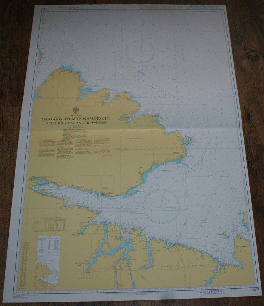 Nautical Chart No. 2317 Barents Sea, Omgang to Mys Nemetskiy including Varangerfjorden, Admiralty