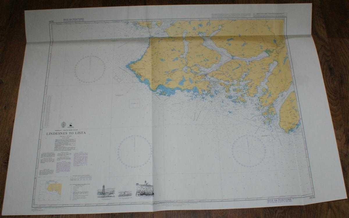 Nautical Chart No. 3535 Norway - South West Coast, Lindesnes to Lista, Admiralty