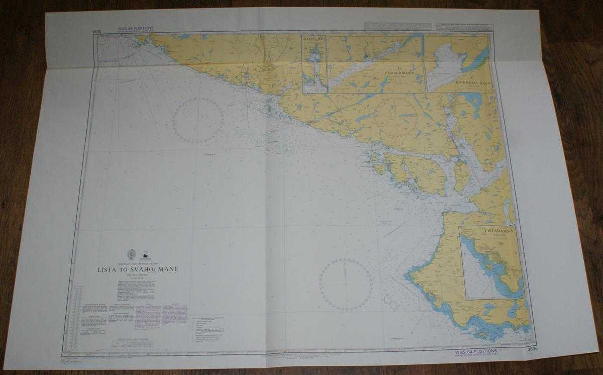 Nautical Chart No. 3536 Norway - South West Coast, Lista to Svaholmane, Admiralty