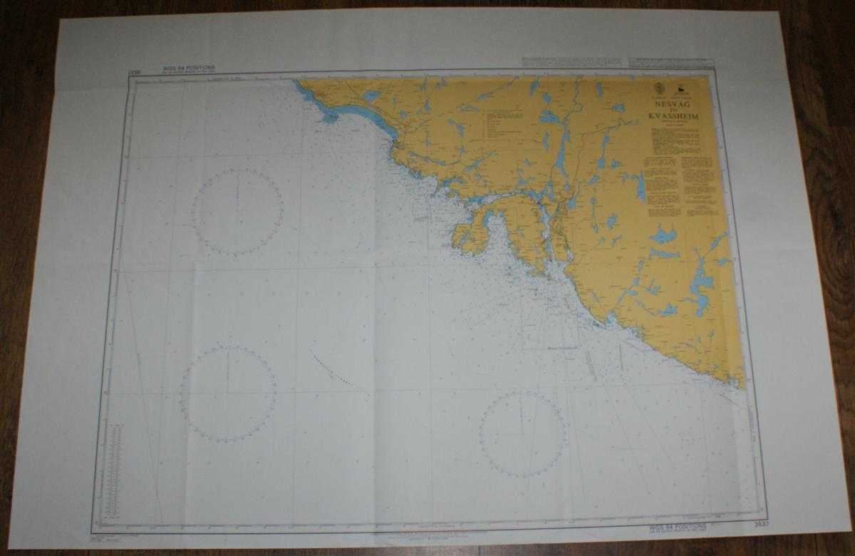Nautical Chart No. 3537 Norway - West Coast, Nesvag to Kvassheim, Admiralty