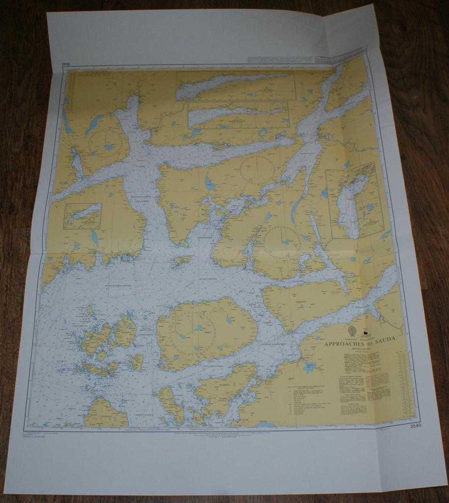 Nautical Chart No. 3540 Norway - West Coast, Approaches to Sauda, Admiralty