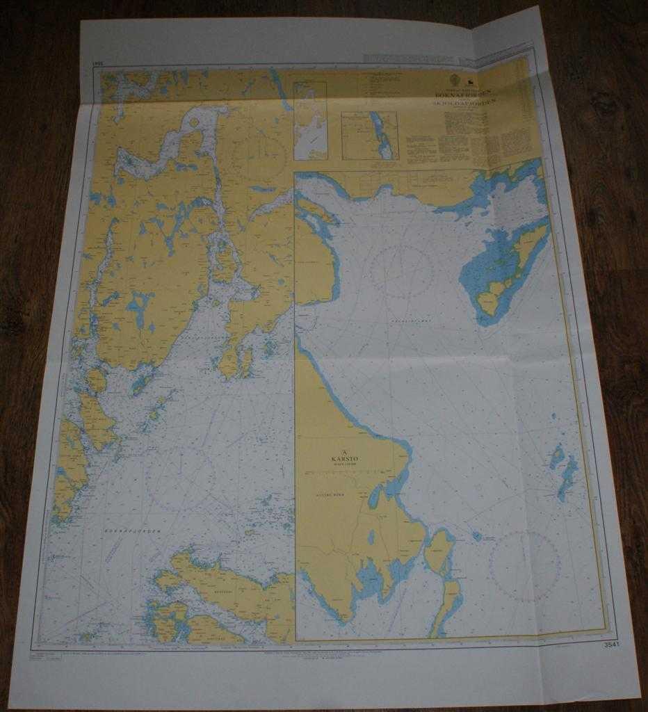 Nautical Chart No. 3541 Norway - West Coast, Boknafjorden and Skjoldafjorden, Admiralty