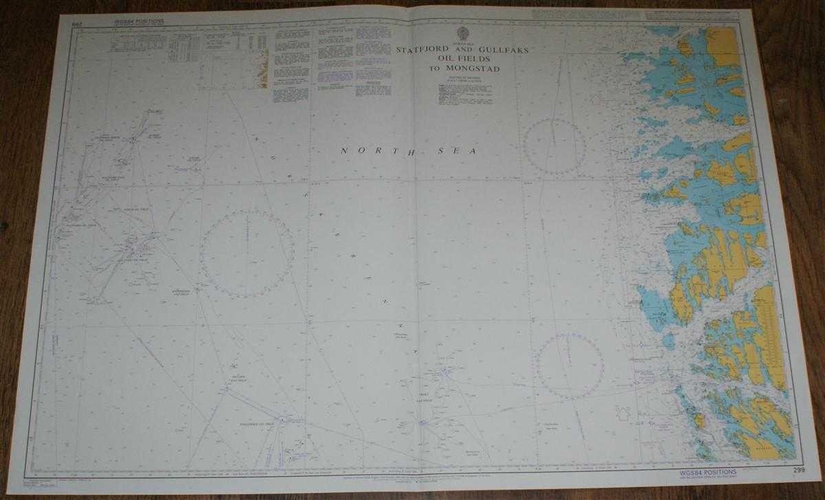 Nautical Chart No. 299 North Sea, Statfjord and Gullfaks Oil Fields to Mongstad, Admiralty