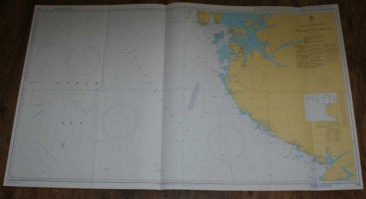 Nautical Chart No. 281 North Sea, Listafjorden to Skudenesfjorden, Admiralty