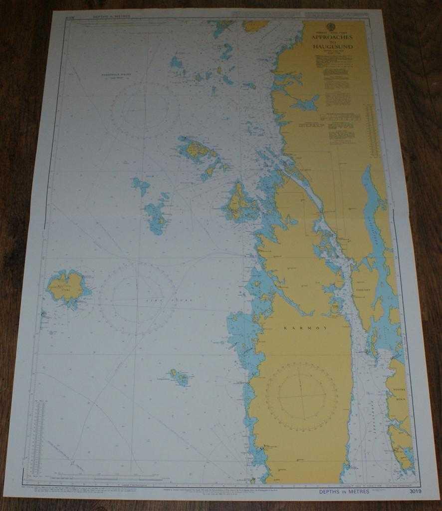 ADMIRALTY - Nautical Chart No. 3019 Norway - West Coast, Approaches to Haugesund