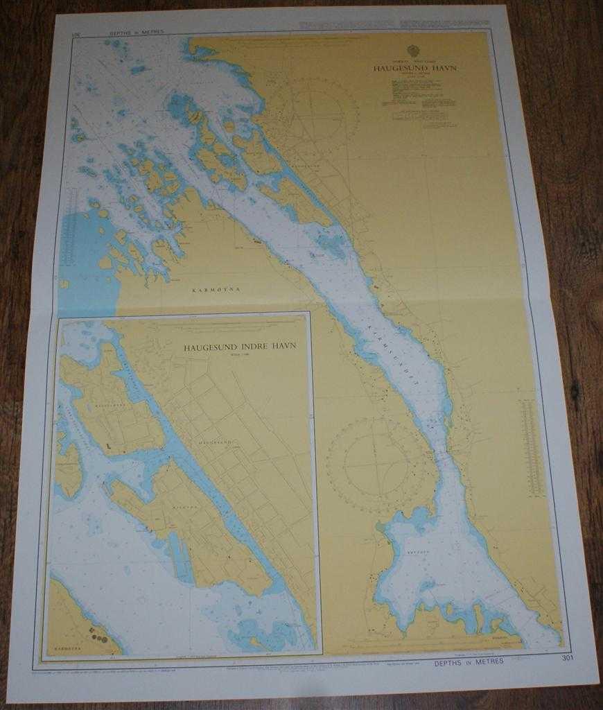 Nautical Chart No. 301 Norway - West Coast, Haugesund Havn, Admiralty