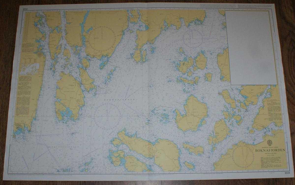 Nautical Chart No. 3025 Norway - West Coast, Boknafjorden, Admiralty