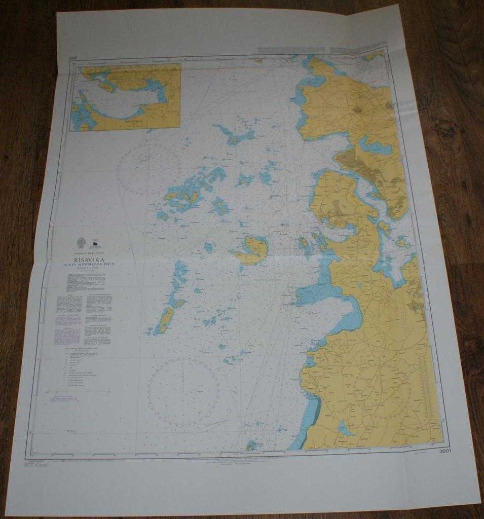Nautical Chart No. 3001 Norway - West Coast, Risavika and Approaches, Admiralty