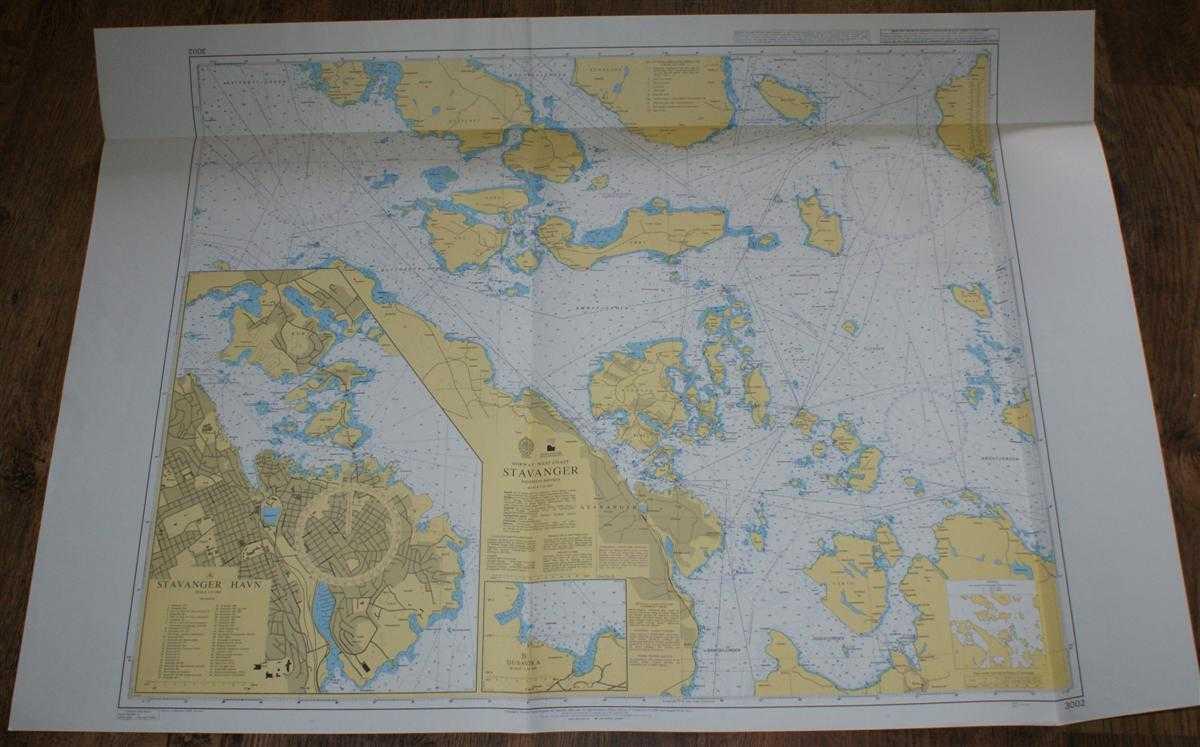 Nautical Chart No. 3002 Norway - West Coast, Stavanger, Admiralty