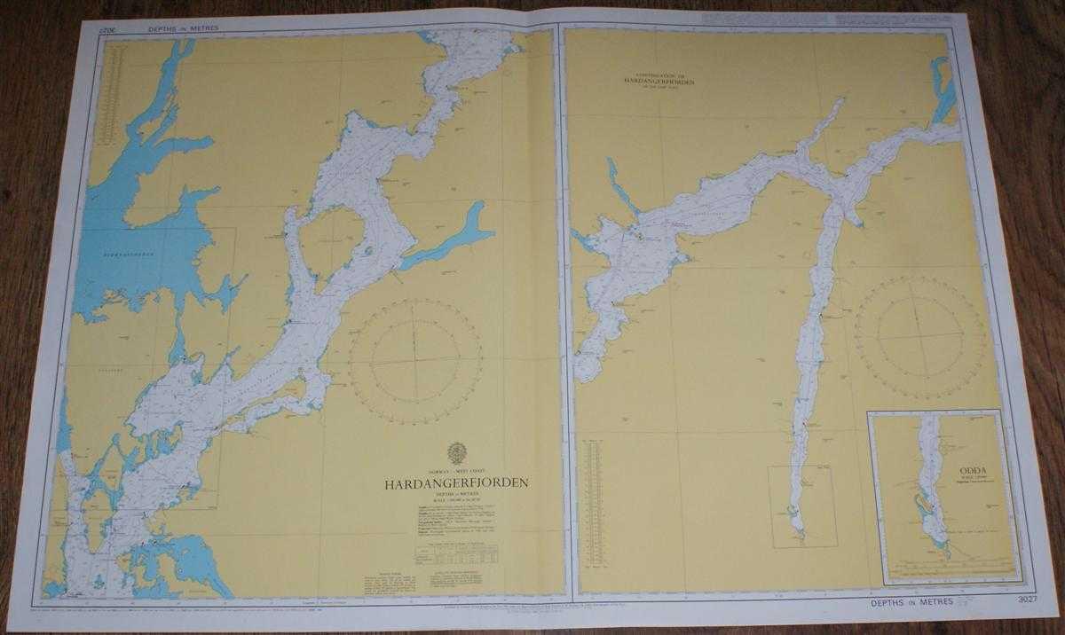 Nautical Chart No. 3027 Norway - West Coast, Hardangerfjorden and Odda, Admiralty