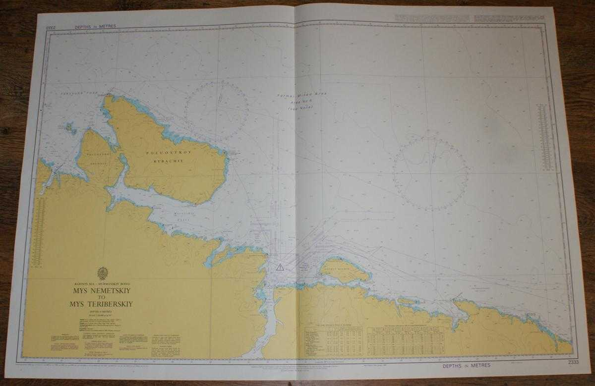 Nautical Chart No. 2333 Barents Sea - Murmanskiy Bereg, Mys Nemetskiy to Mys Teriberskiy, Admiralty