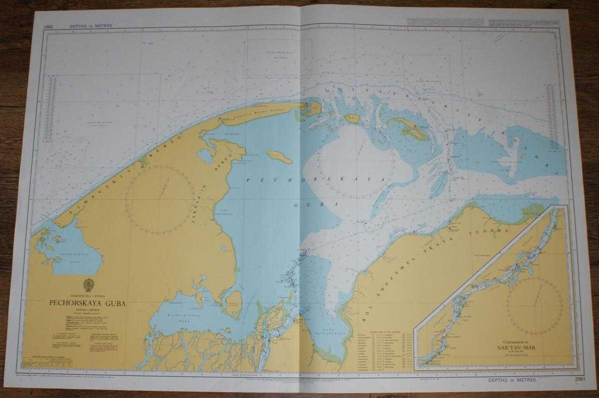 Nautical Chart No. 2961 Barents Sea - Russia, Pechorskaya Guba, Admiralty