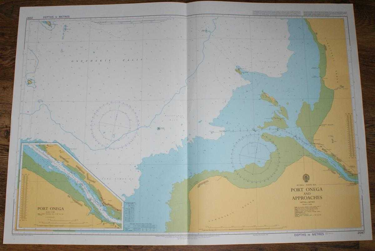 Nautical Chart No. 2097 Russia - White Sea, Port Onega and Approaches, Admiralty