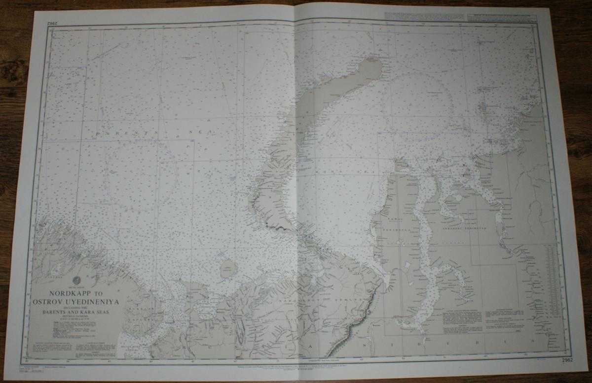 Nautical Chart No. 2962 Nordkapp to Ostrov Uyedineniya including the Barents and Kara Seas, Admiralty