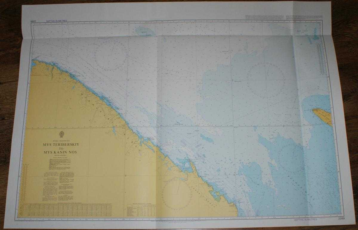 Nautical Chart No. 2269 Russia - Barents Sea, Mys Teriberskiy to Mys Kanin Nos, Admiralty