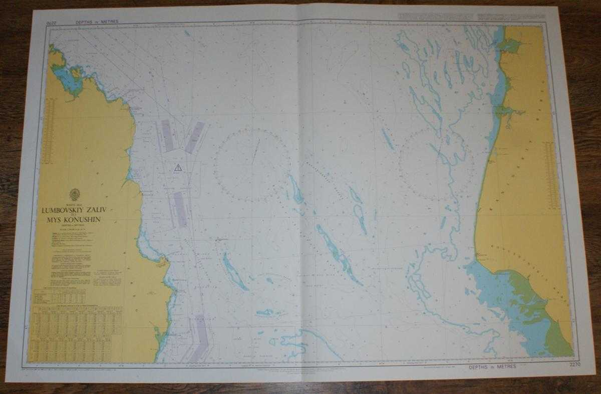 Nautical Chart No. 2270 White Sea, Lumbovskiy Zaliv to Mys Konushin, Admiralty