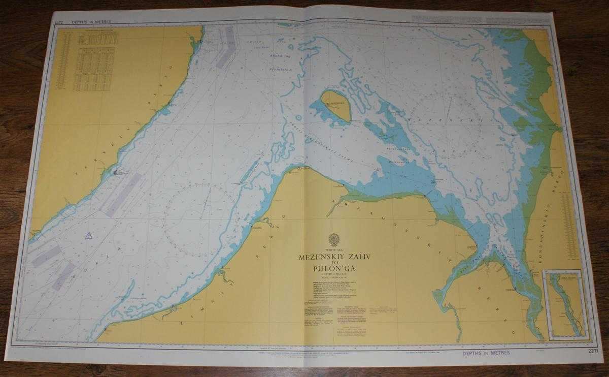 Nautical Chart No. 2271 White Sea, Mezenskiy Zaliv to Pulon'ga, Admiralty