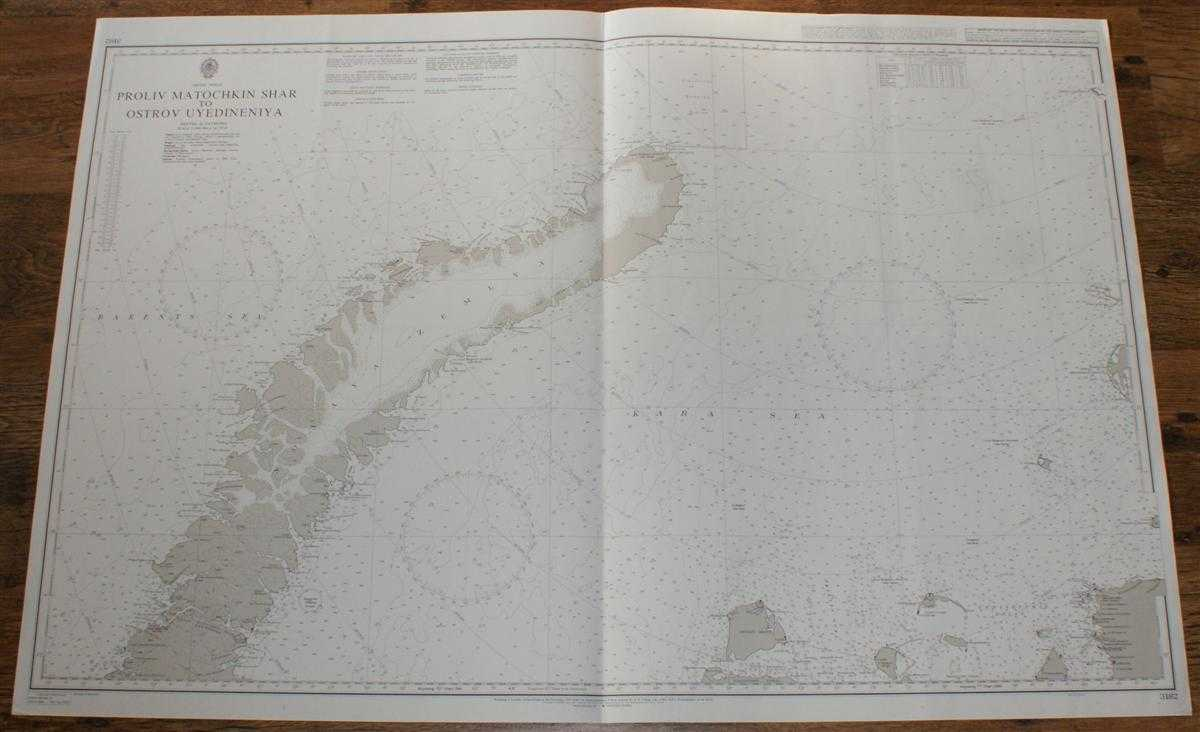 Nautical Chart No. 3182 Artic Ocean, Proliv Matochkin to Ostrov Uyedineniya, Admiralty
