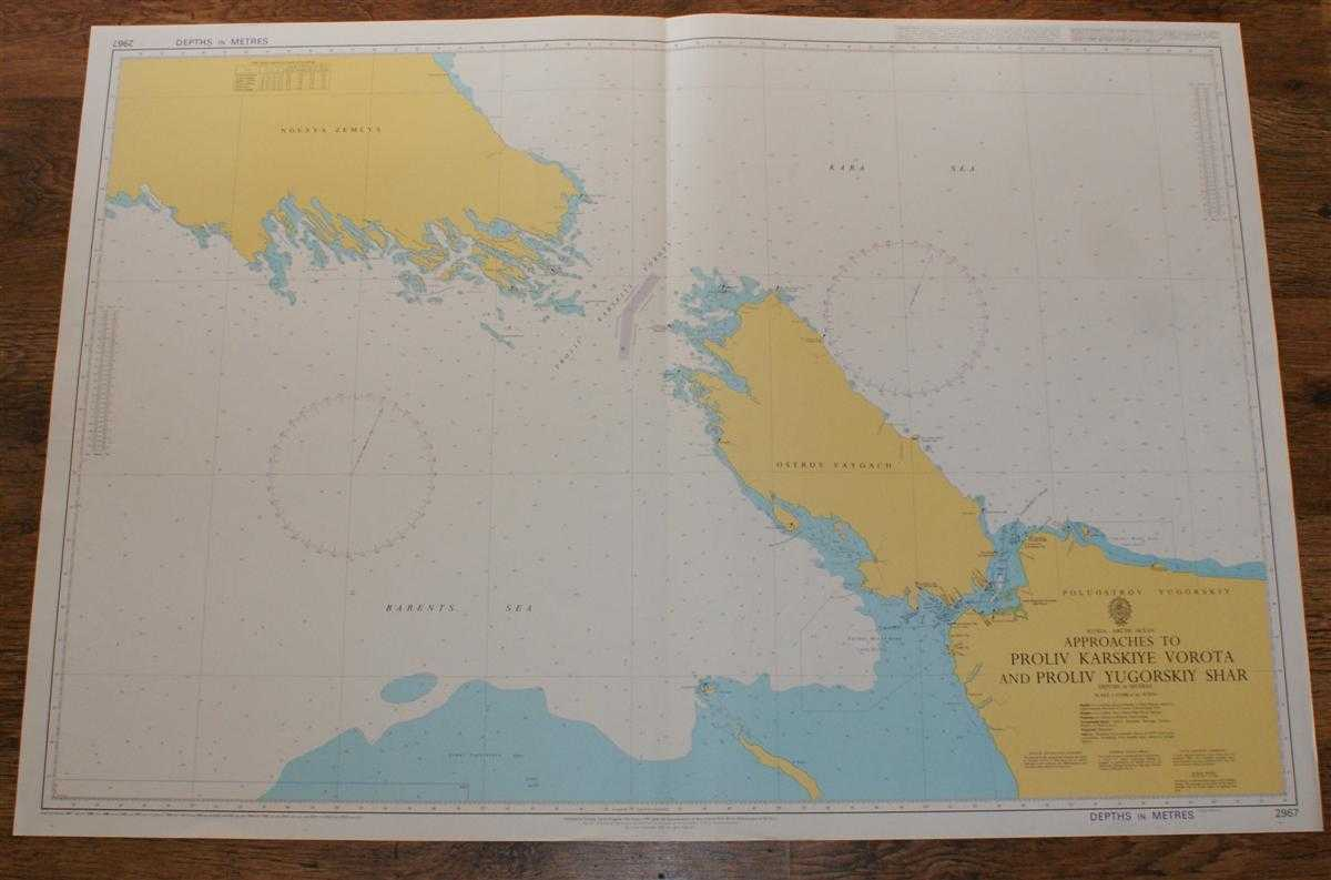 Nautical Chart No. 2967 Russia - Arctic Ocean, Approaches to Proliv Karskiye Vorota and Proliv Yugorskiy Shar, Admiralty