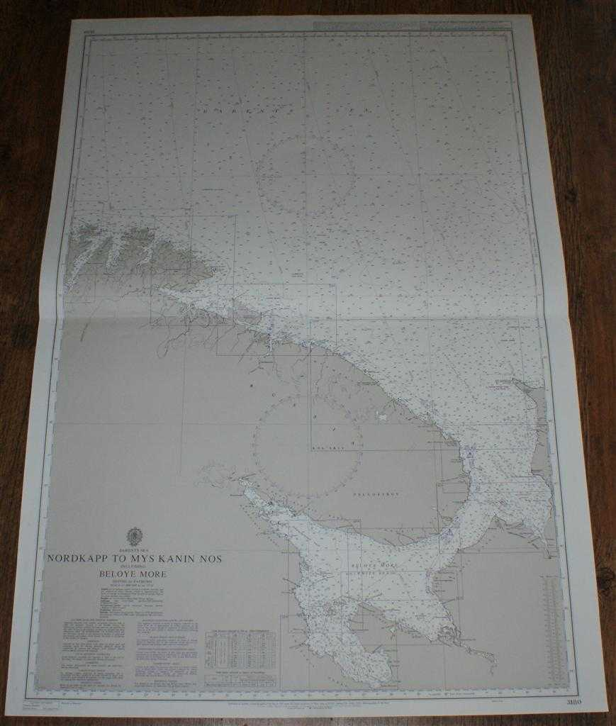 Nautical Chart No. 3180 Barents Sea, Nordkapp to Mys Kanin Nos including Beloye More, Admiralty