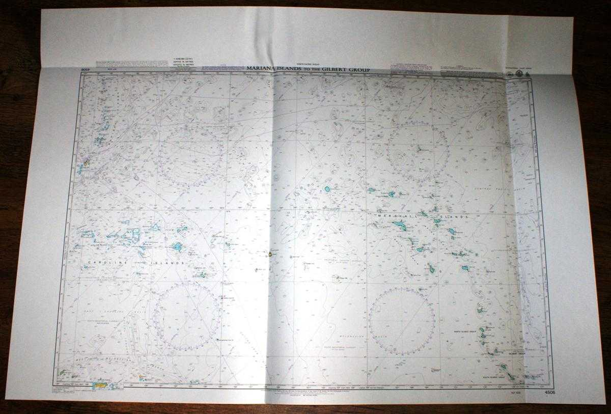 Image for Nautical Chart No. 4506 North Pacific Ocean, Mariana Islands to the Gilbert Group