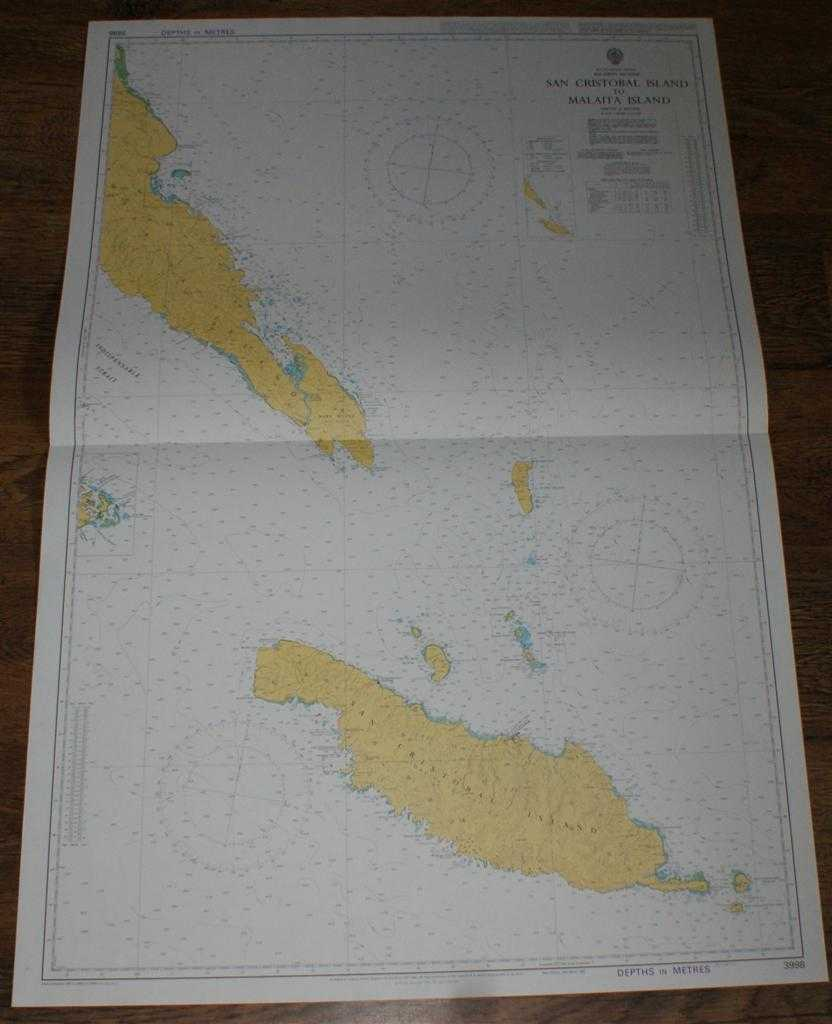 Image for Nautical Chart No. 3998 South Pacific Ocean, Soloman Islands, San Cristobal Island to Malaita Island