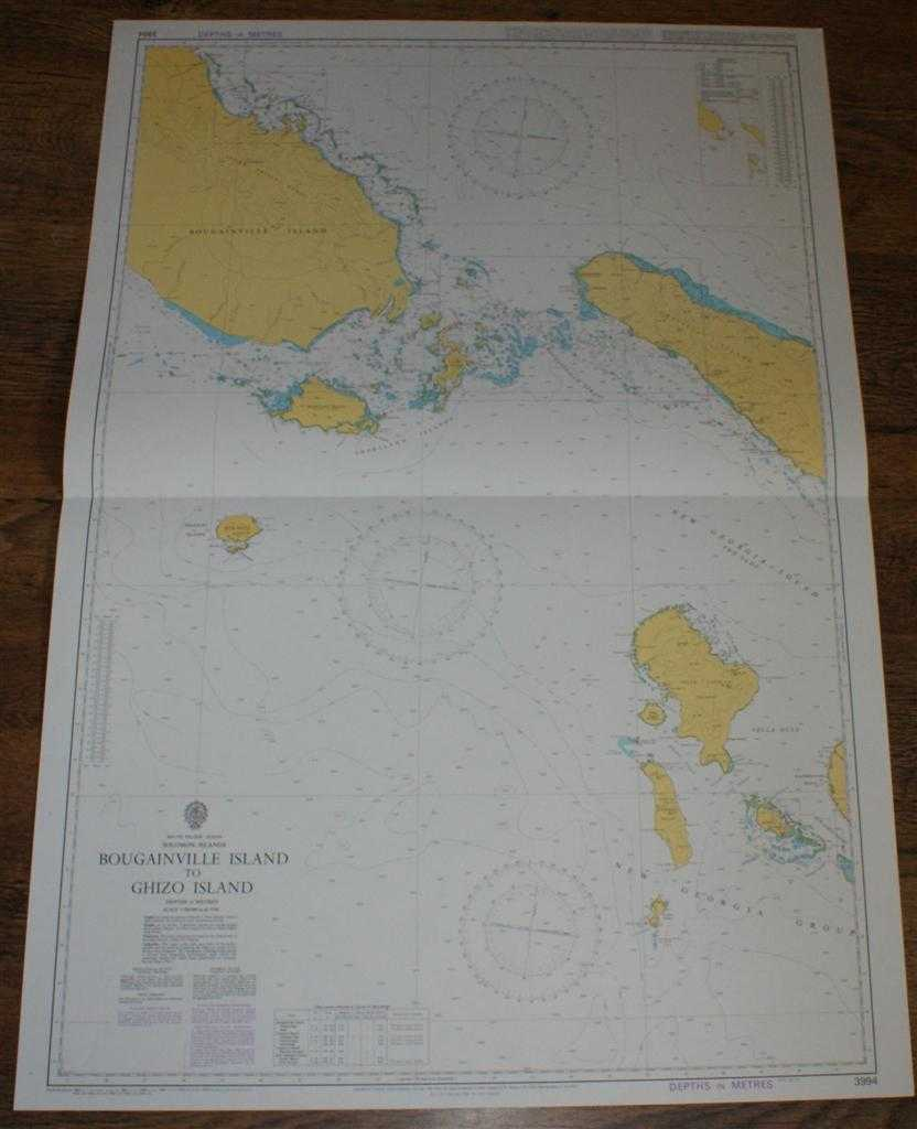 Image for Nautical Chart No. 3994 South Pacific Ocean - Solomon Islands, Bougainville Island to Ghizo Island