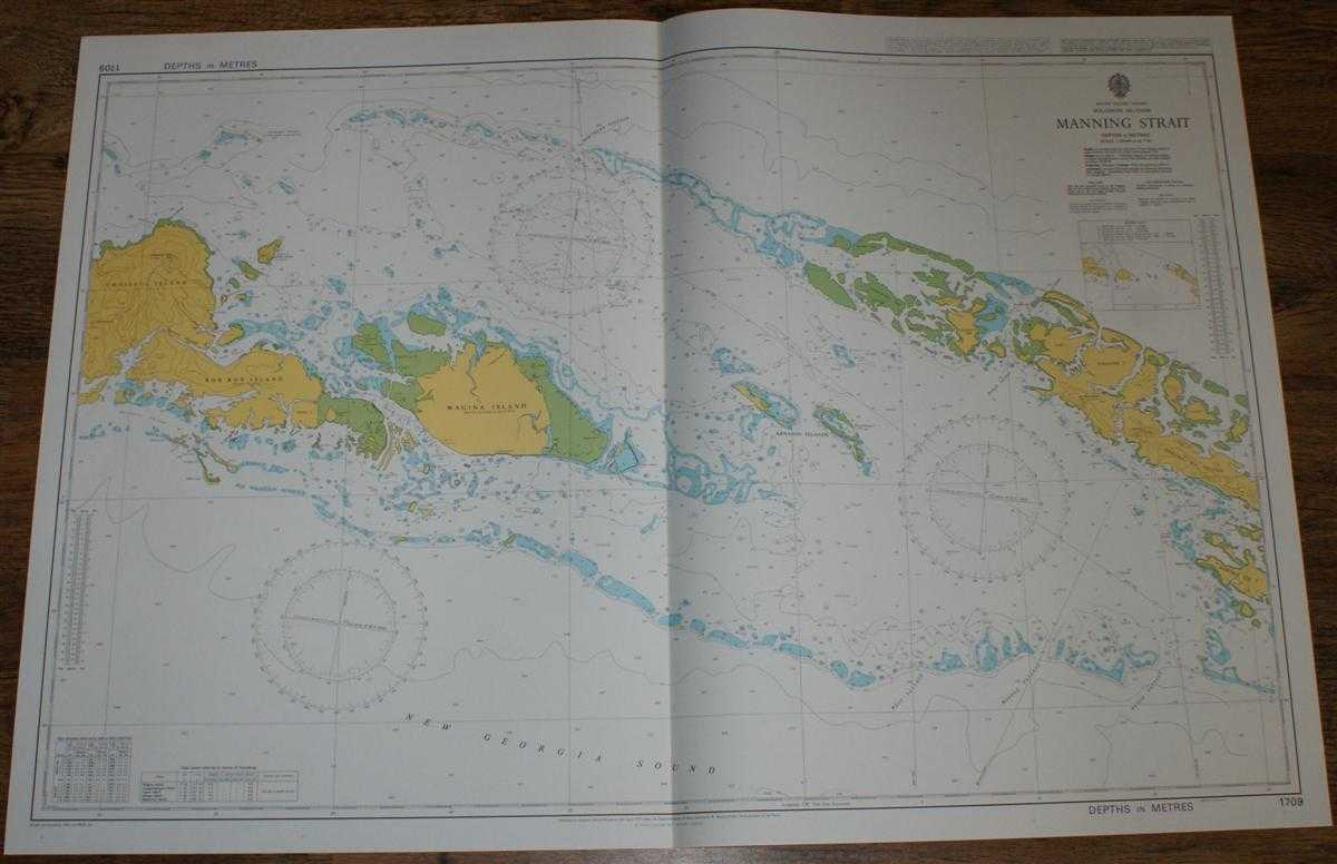 Image for Nautical Chart No. 1709 South Pacific Ocean - Solomon Islands, Manning Strait