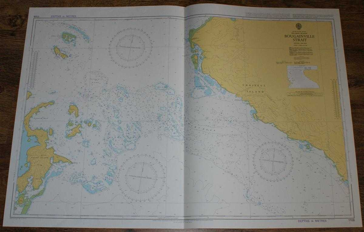 Nautical Chart No. 1708 South Pacific Ocean - Solomon Islands, Bougainville Strait, Admiralty