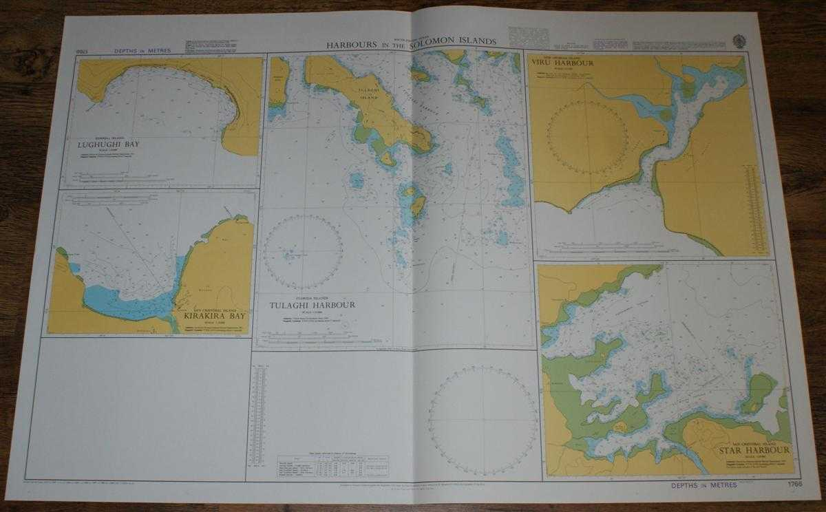 Nautical Chart No. 1766 South Pacific Ocean - Harbours in the Solomon Islands, Admiralty