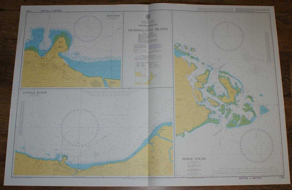 Nautical Chart No. 1750 South Pacific Ocean - Solomon Islands, Anchorages in Guadalcanal Island, Admiralty
