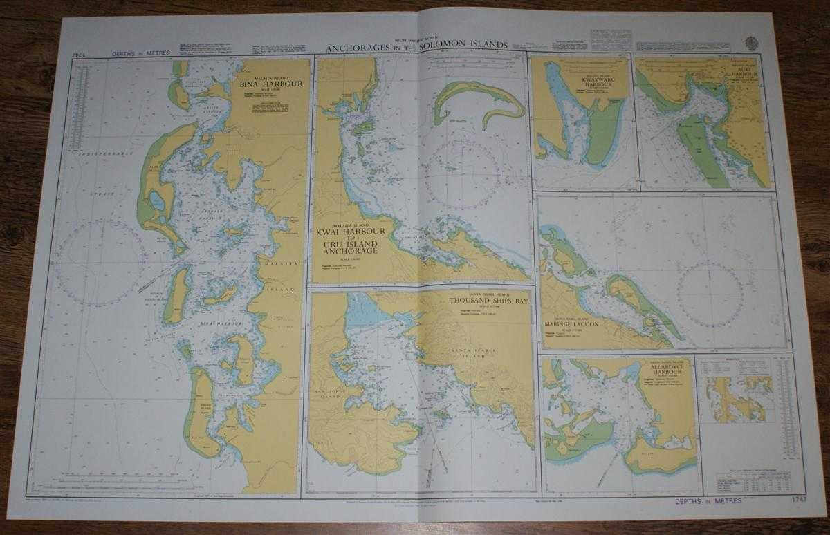 Nautical Chart No. 1747 South Pacific Ocean - Anchorages in the Solomon Islands, Admiralty